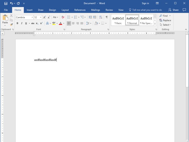 Microsoft Word Window